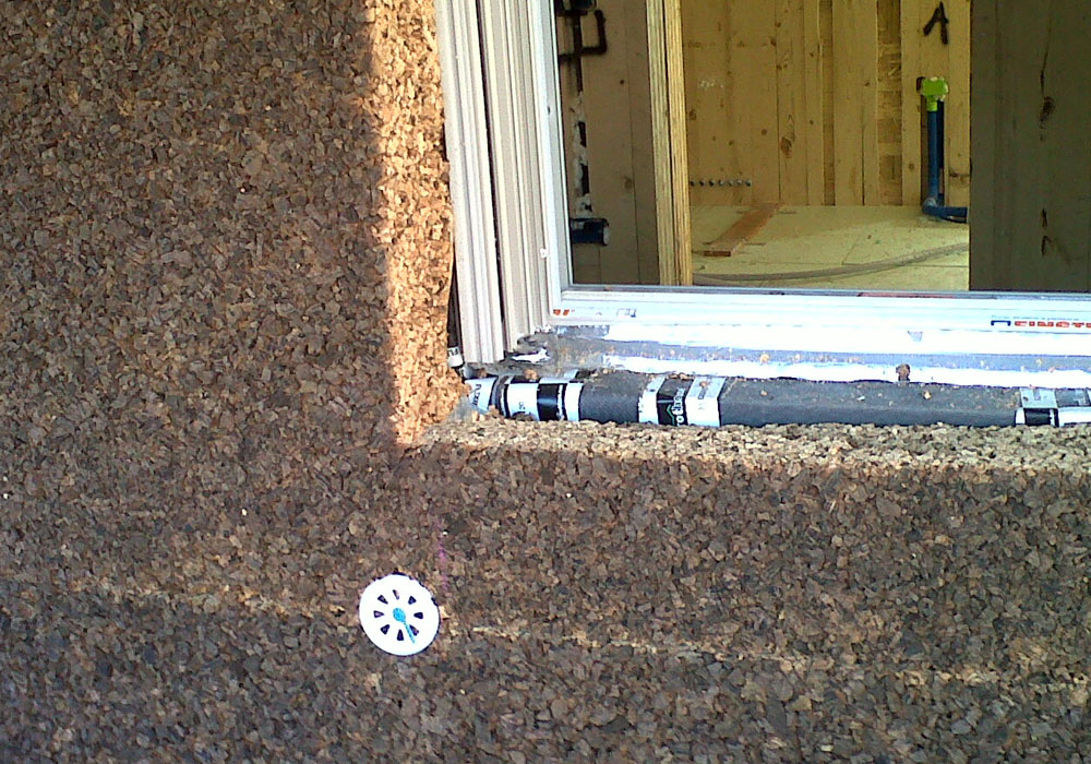 Aislante exterior con paneles de corcho